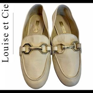 Louise Et Cie Cream leather loafers size 5 1/2 M